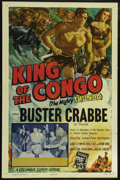 "Movie Posters:Serial, King of the Congo: Chapter 6-Thunda's Desperate Chance (Columbia, 1952). One Sheet (27"" X 41""). Adventure. Directed by Spenc..."