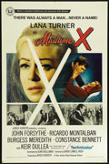 "Movie Posters:Drama, Madame X (Universal, 1966). One Sheet (27"" X 41""). Drama. Directed by David Lowell Rich. Starring Lana Turner, John Forsythe..."