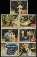 "Movie Posters:Adventure, Mark of the Gorilla (Columbia, 1950). Title Lobby Card (11"" X 14"")and Lobby Cards (6) (11"" X 14""). Adventure. Directed by W...(Total: 7 Items)"