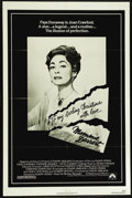 "Movie Posters:Cult Classic, Mommie Dearest (Paramount, 1981). One Sheet (27"" X 41""). Drama.Directed by Frank Perry. Starring Faye Dunaway, Diana Scarwi..."