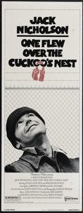 """Movie Posters:Drama, One Flew Over the Cuckoo's Nest (United Artists, 1975). Insert (14"""" X 36""""). Comedy Drama. Directed by Milos Forman. Starring..."""