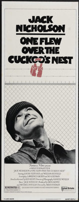 "One Flew Over the Cuckoo's Nest (United Artists, 1975). Insert (14"" X 36""). Comedy Drama. Directed by Milos Fo..."