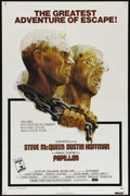 "Movie Posters:Drama, Papillion (Allied Artists, 1973). One Sheet (27"" X 41""). Drama.Directed by Franklin J. Schaffner. Starring Steve McQueen, D..."