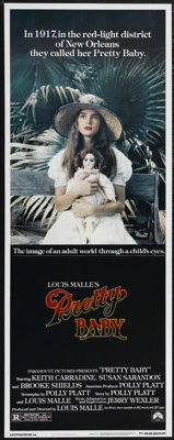 "Pretty Baby (Paramount, 1978). Insert (14"" X 36""). Drama. Directed by Louis Malle. Starring Keith Carradine, S..."