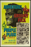 "Movie Posters:War, The Purple Plain (United Artists, 1955). One Sheet (27"" X 41"").War. Directed by Robert Parrish. Starring Gregory Peck, Win ..."