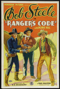 "Movie Posters:Western, Ranger's Code (Monogram, 1933). One Sheet (27"" X 41""). Western.Directed by R.N. Bradbury. Starring Bob Steele, Doris Hill, ..."