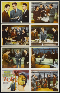 "Rope (Warner Brothers, R-1950s). International Lobby Card Set of 8 (11"" X 14""). Thriller. Directed by Alfred H..."