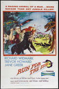 "Movie Posters:Adventure, Run for the Sun (United Artists, 1956). One Sheet (27"" X 41"").Adventure. Directed by Roy Boulting. Starring Richard Widmark..."