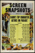 "Movie Posters:Short Subject, Screen Snapshots Stock Poster (Columbia, 1946). One Sheet (27"" X41""). Short Subject. Directed by Ralph Staub. Starring Mel ..."