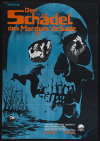 """The Skull (Paramount, 1965). German Poster (23"""" X 33""""). Horror. Directed by Freddie Francis. Starring Peter Cu..."""