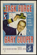 "Movie Posters:War, Task Force (Warner Brothers, 1949). One Sheet (27"" X 41""). War.Directed by Delmer Daves. Starring Gary Cooper, Jane Wyatt, ..."