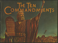 The Ten Commandments (Paramount, 1956). Program (Multiple Pages). Biblical Epic. Directed by Cecil B. DeMille. Starring...