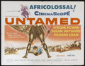 "Movie Posters:Adventure, Untamed (20th Century Fox, 1955). Half Sheet (22"" X 28"").Adventure. Directed by Henry King. Starring Tyrone Power, SusanHa..."