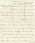 "Autographs:Military Figures, Union Army Surgeon Recounts Expedition Against Forrest, autographletter signed, ""John B. Bowen"", three pages, 7.75"" x 9..."