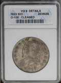 Bust Half Dollars: , 1823 50C --Cleaned--ANACS. VG 8 Details O-105. PCGS Population(1/467). NGC Census: (6/566). Mintage: 1,694,200. Numismedia...