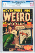 Golden Age (1938-1955):Horror, Adventures Into Weird Worlds #11 (Atlas, 1952) CGC FN- 5.5Off-white to white pages....