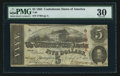Confederate Notes:1863 Issues, T60 $5 1863 PF-17 Cr. 456.. ...