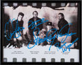 Music Memorabilia:Autographs and Signed Items, Stevie Ray Vaughan and Double Trouble Signed Photograph....
