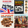 Music Memorabilia:Recordings, Beatles Songs And Pictures, Second Album, Sgt. Pepper andStory (VJ-1092, Capitol-2080, 2653, 2222, 1964-1967)....
