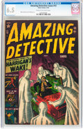 Golden Age (1938-1955):Horror, Amazing Detective Cases #12 (Atlas, 1952) CGC FN+ 6.5 Cream tooff-white pages....