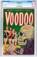 Golden Age (1938-1955):Horror, Voodoo #14 (Farrell, 1954) CGC VG 4.0 Off-white to white pages....