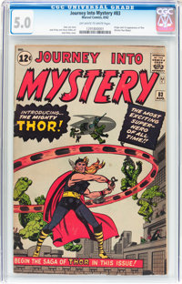 Journey Into Mystery #83 (Marvel, 1962) CGC VG/FN 5.0 Off-white to white pages