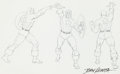 Original Comic Art:Sketches, John Romita Sr. - Captain America Statue Concept Sketch OriginalArt (undated)....