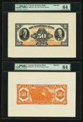 Canadian Currency: , Toronto, ON- Dominion Bank $50 Feb. 1, 1931 Ch. # 220-24-12P Faceand Back Proofs. ... (Total: 2 notes)