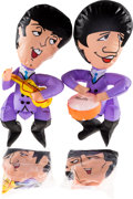 Music Memorabilia:Memorabilia, Complete Set of Beatles Inflatable Dolls (US, 1966)....