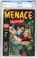 Golden Age (1938-1955):Horror, Menace #7 (Atlas, 1953) CGC VG 4.0 Off-white to white pages....