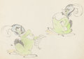 animation art:Model Sheet, Orphan's Benefit Clara Cluck Model Sheet Animation Art (WaltDisney, 1934)....