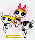 Animation Art:Production Drawing, Mike DeCarlo Powerpuff Girls Specialty Illustration(2000)....