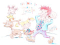Animation Art:Production Drawing, Ron Campbell Rugrats Illustration Animation Art (undated)....