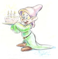Animation Art:Production Drawing, Dave Pacheco Dopey Illustration Animation Art (undated)....