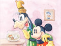 Animation Art:Production Drawing, Patrick Block Mickey Mouse and Goofy Illustration(undated)....