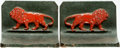 Books:Furniture & Accessories, [Bookends]. Pair of Matching Lion Bookends. Bradley & Hubbard, undated. ... (Total: 2 Items)