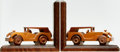 Books:Furniture & Accessories, [Bookends]. Pair of Matching Automobile Bookends. Unsigned,undated.... (Total: 2 Items)