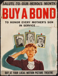 "Movie Posters:War, World War II (1940s). Bond Poster (21.5"" X 28"") ""Buy a Bond toHonor Every Mother's Son in Service."" War.. ..."