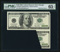 Error Notes:Foldovers, Fr. 2180-G $100 2006 Federal Reserve Note. PMG Gem Uncirculated 65 EPQ.. ...
