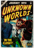 Golden Age (1938-1955):Horror, Journey Into Unknown Worlds #29 (Atlas, 1954) Condition: VG-....