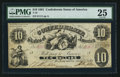 Confederate Notes:1861 Issues, T10 $10 1861 PF-11 Cr. 34.. ...