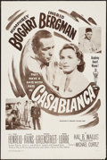 "Movie Posters:Academy Award Winners, Casablanca (Dominant, R-1956). One Sheet (27"" X 41""). Academy AwardWinners.. ..."