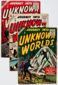 Golden Age (1938-1955):Horror, Journey Into Unknown Worlds Group of 5 (Atlas, 1955-56) Condition:Average GD/VG.... (Total: 5 Comic Books)