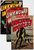 Golden Age (1938-1955):Horror, Journey Into Unknown Worlds Group of 4 (Atlas, 1956) Condition:Average GD.... (Total: 4 Comic Books)