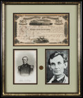 Miscellaneous:Other, Lincoln-Related Framed Items.. ...