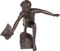 Fine Art - Sculpture, American:Contemporary (1950 to present), Dennis Smith (American/Danish, b. 1942). Boy Sailing, 1989. Bronze with brown patina. 36 inches (91.4 cm) high. Ed. 6/9...