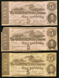 Confederate Notes:1862 Issues, T53 $5 1862, Three Examples.. ... (Total: 3 notes)