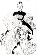Original Comic Art:Covers, Bryan Hitch Ultimate Fantastic Four #1 Cover and Color-SepLayers Original Art Group of 5 (Marvel, 2004).... (Total: 5Original Art)