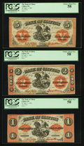 Canadian Currency: , Clifton, PC- Bank of Clifton $1; $2; $5 Sep. 1, 1861 Ch. #125-12-06; 125-12-12; 125-12-18. ... (Total: 3 notes)