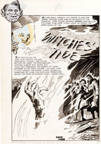 """Gene Colan Eerie #7 """"Witches' Tide"""" Complete 8-Page Story Original Art (Warren, 1967).... (Total: 8 Original A..."""